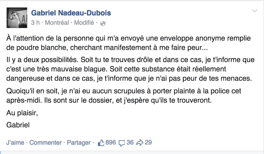 CLASSE, Gabriel Nadeau Dubois, projet loi