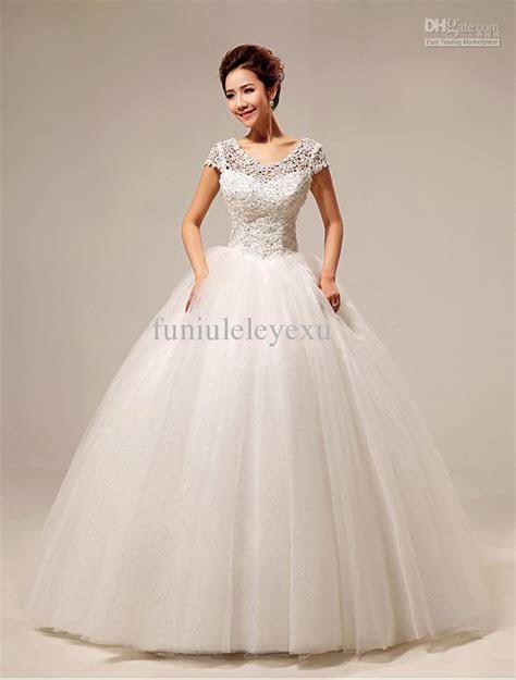 Elegant Ball Gown Short Sleeve Beading Floor Length Lace