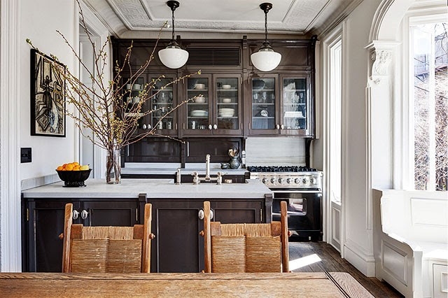 One (Famous) Brownstone, Two Kitchens - Making it Lovely