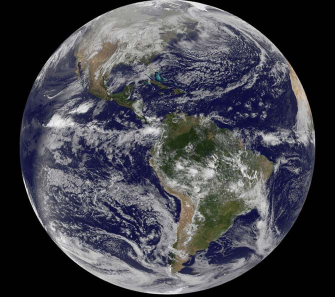 GOES 13 image of Earth