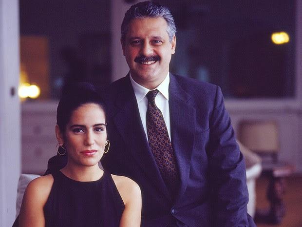 Stella (Glória Pires) e Felipe Barreto (Antonio Fagundes) na novela