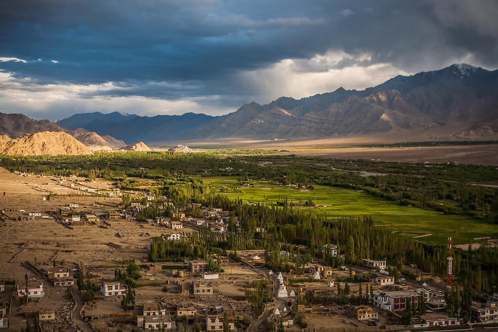 India - Aerial View from Thiksey Monastery, Leh, Ladakh