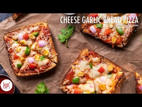 How to make pizza on garlic bread recipe ?