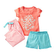 Carter's® 3-pc. Birds Pajamas - Girls 12m-24m