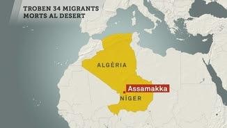Els cossos dels 34 immigrants els han trobat prop de la frontera amb Algèria