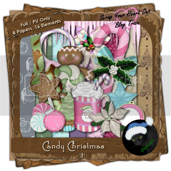 Candy Christmas full size sampler preview