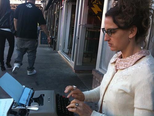 Jen Hofer typing