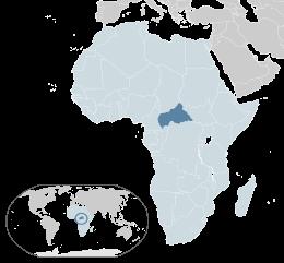Rep. Centrafricana - Localizzazione