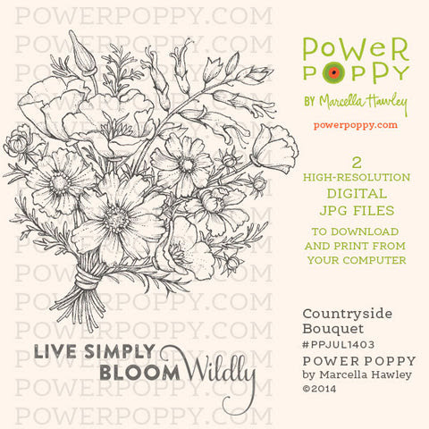 Countryside Bouquet Digital Stamp Set