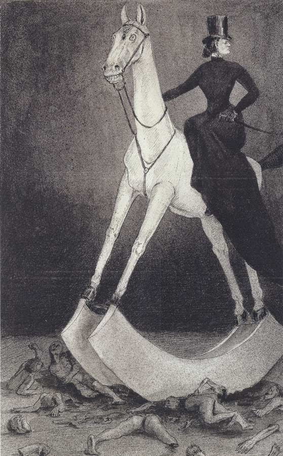 Alfred Kubin - The Lady on the Horse, 1900-01