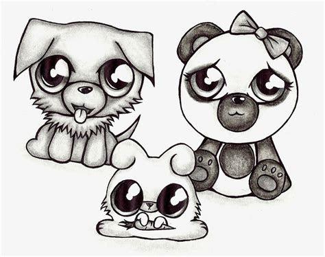 cute drawing animals  getdrawingscom