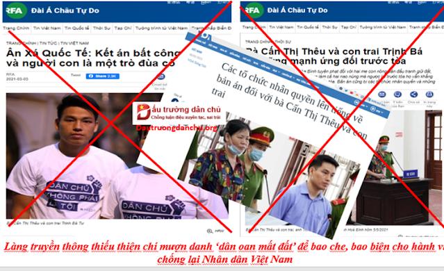 Vụ tuyên án hai mẹ con Cấn Thị Thêu: Đừng đánh lừa dư luận bằng chiêu trò 'dân oan mất đất'