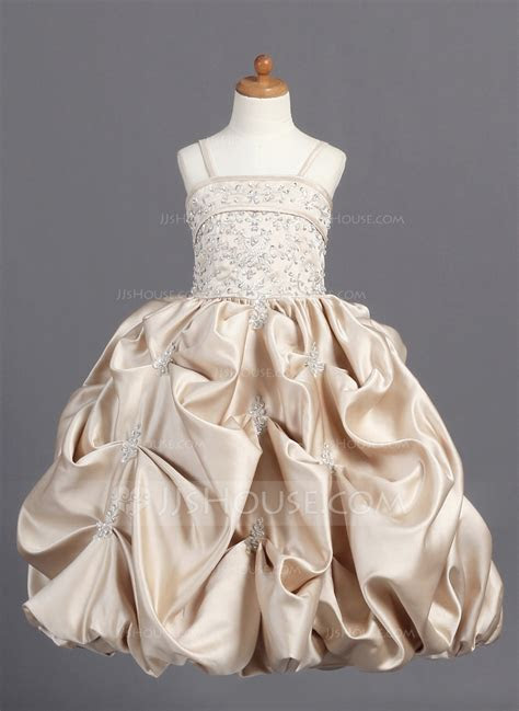 Ball Gown Floor length Flower Girl Dress   Satin