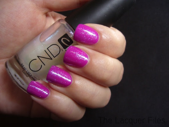 Color Club Mrs. Robinson Poptasic Collection CND Effects Sapphire Sparkle