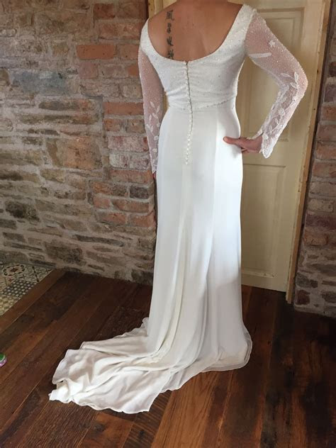 Vintage long sleeved style gown   Sell My Wedding Dress