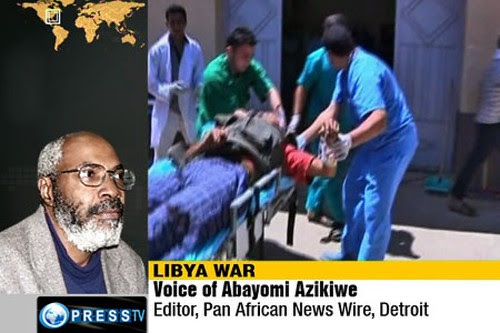 Abayomi Azikiwe, editor of the Pan-African News Wire, has been interviewed on numerous occasions on Press TV. Azikiwe has discussed U.S. foreign policy toward Libya and the African continent. by Pan-African News Wire File Photos