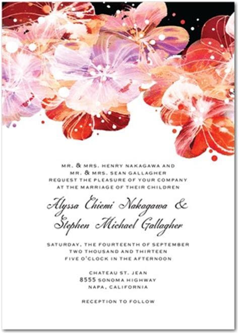 Floral Watercolor Wedding Invitations : Flower Fantasia