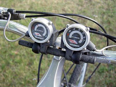 Oddball gear display on bicycle at Amtrak station