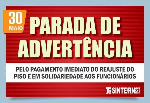 SINTE/RN realiza assembleia em dia de Parada de Advertência da Rede Estadual