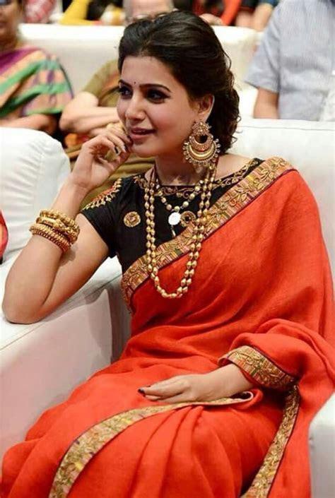 Samantha   Samantha in 2019   Saree blouse, Saree, Indian