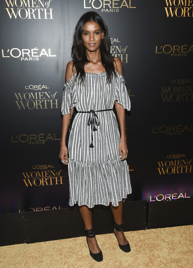 premios loreal women of worth red carpet look Liya Kebede