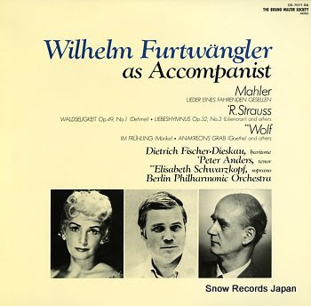 FURTWANGLER, WILHELM as accompanist