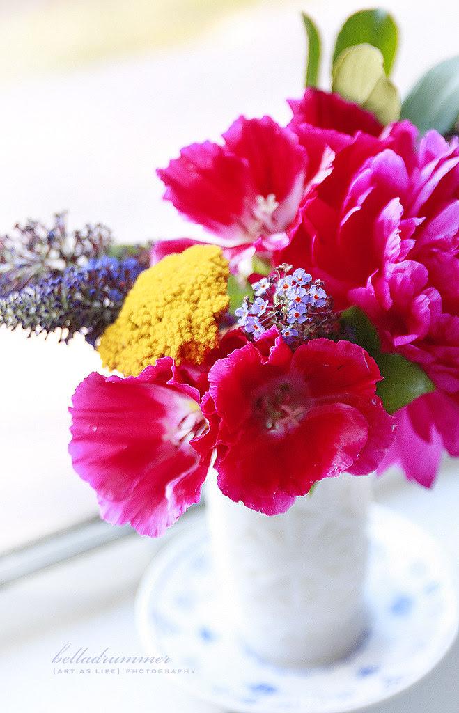 summer day love vase