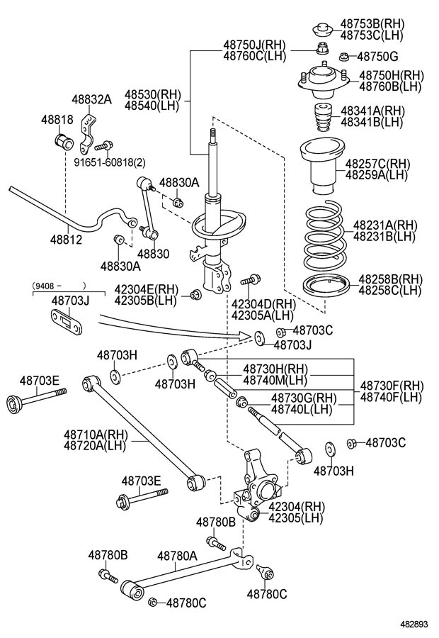 33 1995 Toyota Camry Parts Diagram - Wiring Diagram Database