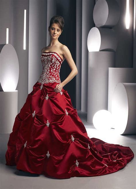 Wedding By Designs: Red wedding dress