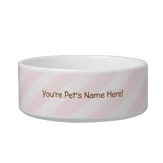 Sweet Pink Stripes petbowl