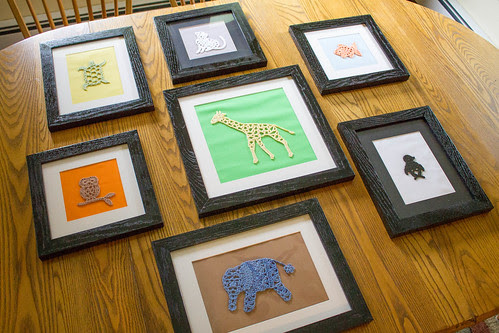 Framed Crocheted Animals