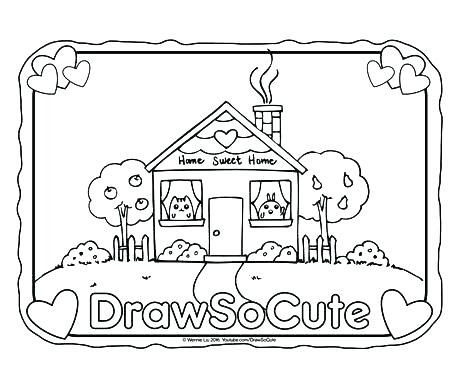 welcome home coloring page at getcolorings  free printable colorings pages to print and color