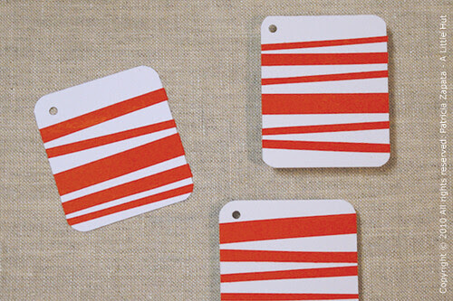 red gift tags