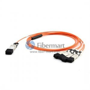 Customized 40GBASE QSFP+ to 4 SFP+ Breakout Active Optical Cable