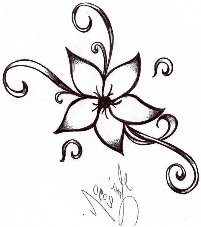 Lotus Flower Drawing Simple at GetDrawings   Free download