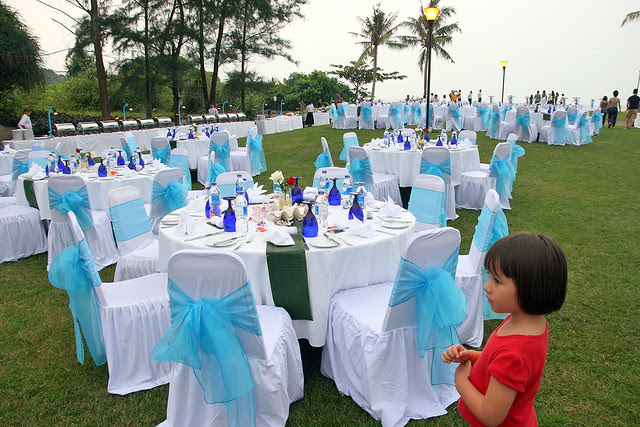 This particular part of the golf course is a popular place for weddings