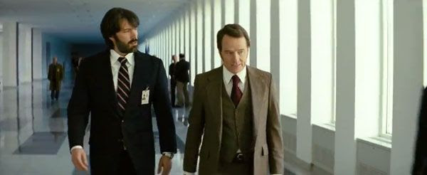 Ben Affleck and Bryan Cranston play CIA operatives who find a way to rescue six Americans from revolution-torn Iran in ARGO.