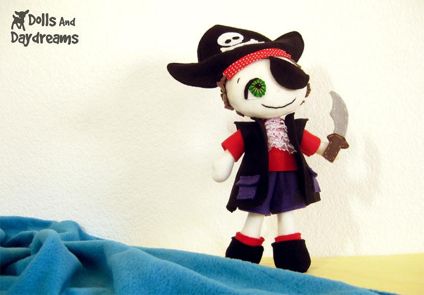 Pirate boy doll sewing pattern kawaii
