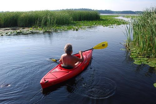 Naked Kayaking