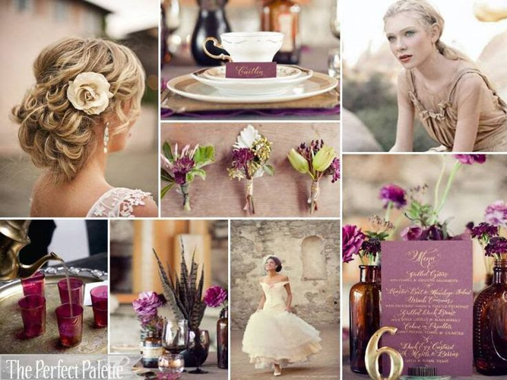 The Perfect Palette: {Autumn Elegance}: A Palette of Fig, Light Plum, Antique Gold, Ivory + White