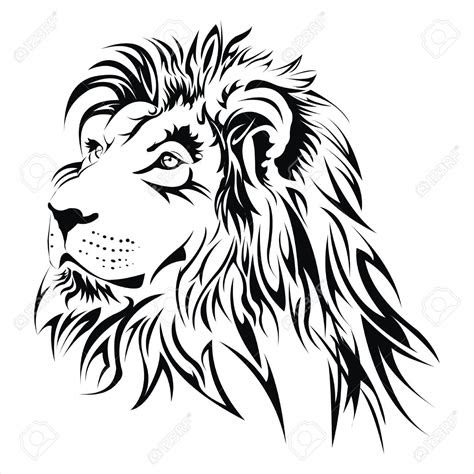 stock vector projects   lion head tattoos head