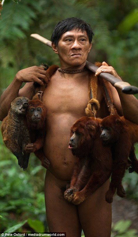 Um bom dia de trabalho: Para os olhos ocidentais, pode parecer cruel, mas para os macacos de caça Huaorani não é realmente diferente do povo britânico caça faisões ou coelhos