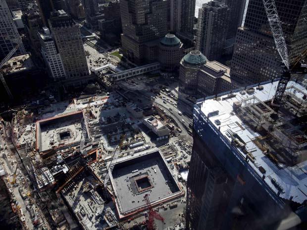 Vista aérea do Marco Zero de Nova York em 7 de setembro de 2010.