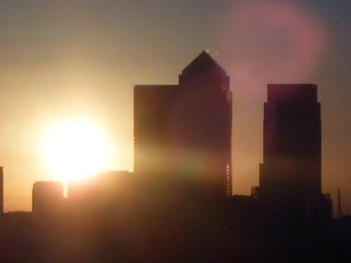 Sunrise over Canary Wharf