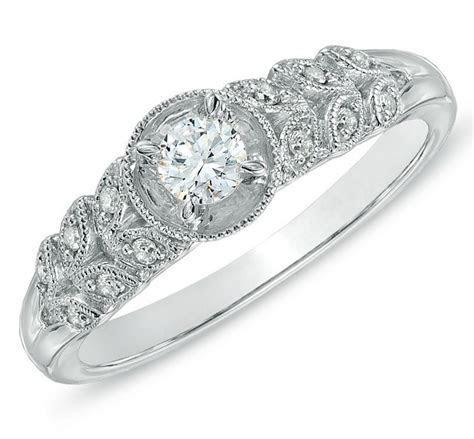 Luscious Antique Cheap Engagement Ring 0.50 Carat Round