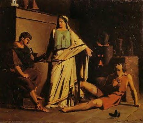 Locuste et Néron testant un poinson sur un esclave
