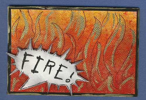 Fire B-day card