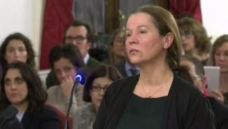 Montserrat González en un moment del judici
