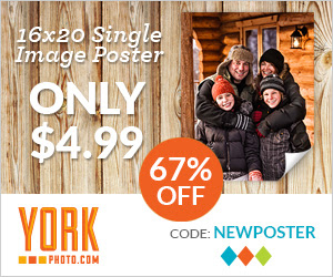 Custom 16X20 Single Image Poster – Only $4.99 – Save $10!