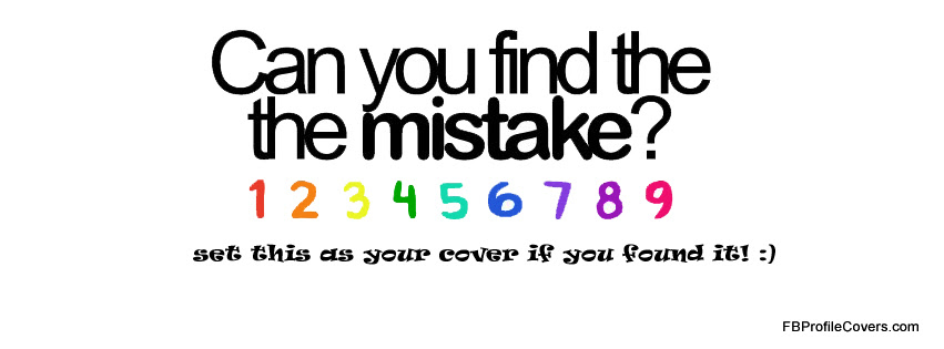 Find The Mistake Facebook Timeline Cover